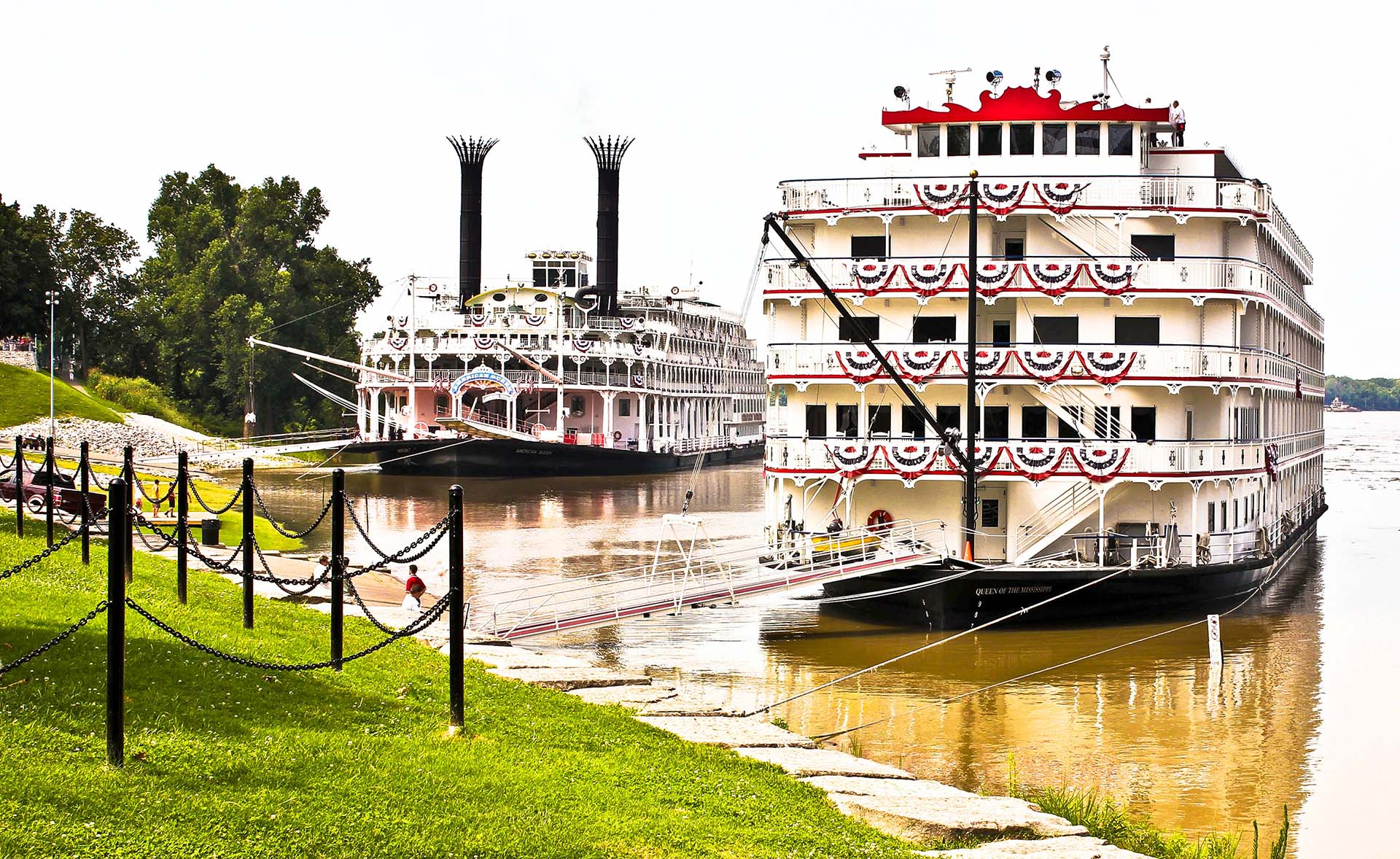 Riverboats Docked at the Henderson Riverfront